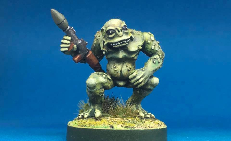 Deep One 28mm Miniature with an RPG