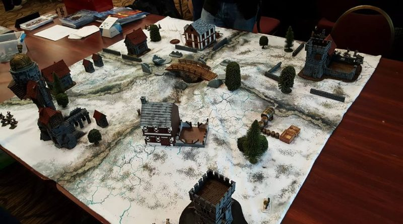 Prepping a Frostgrave table for a convention game