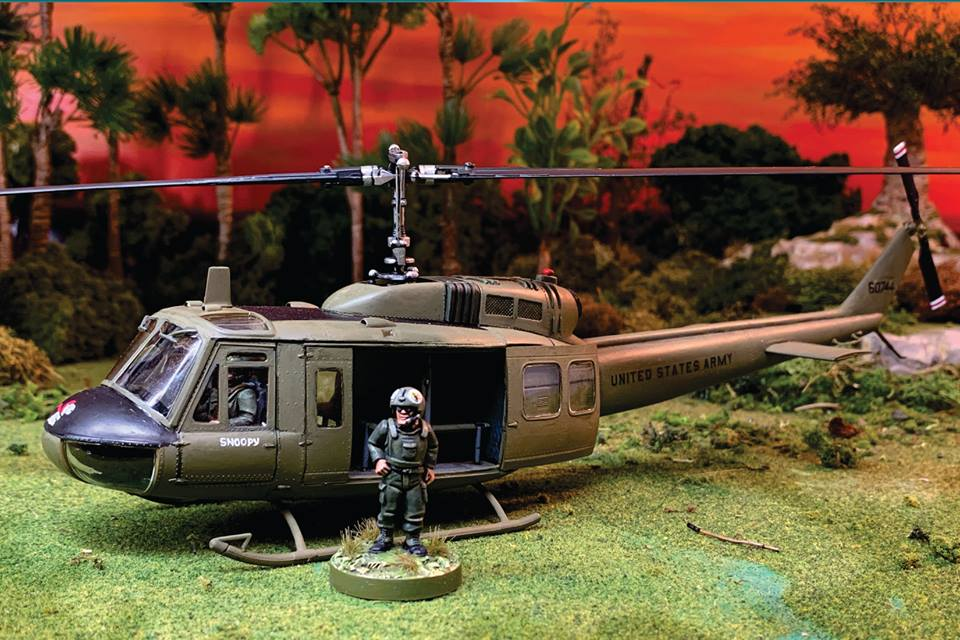 Landed 28mm Miniature Helicopter