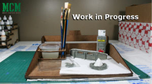 28mm Terrain – Work in Progress – Camp Fire and Steel Barricade