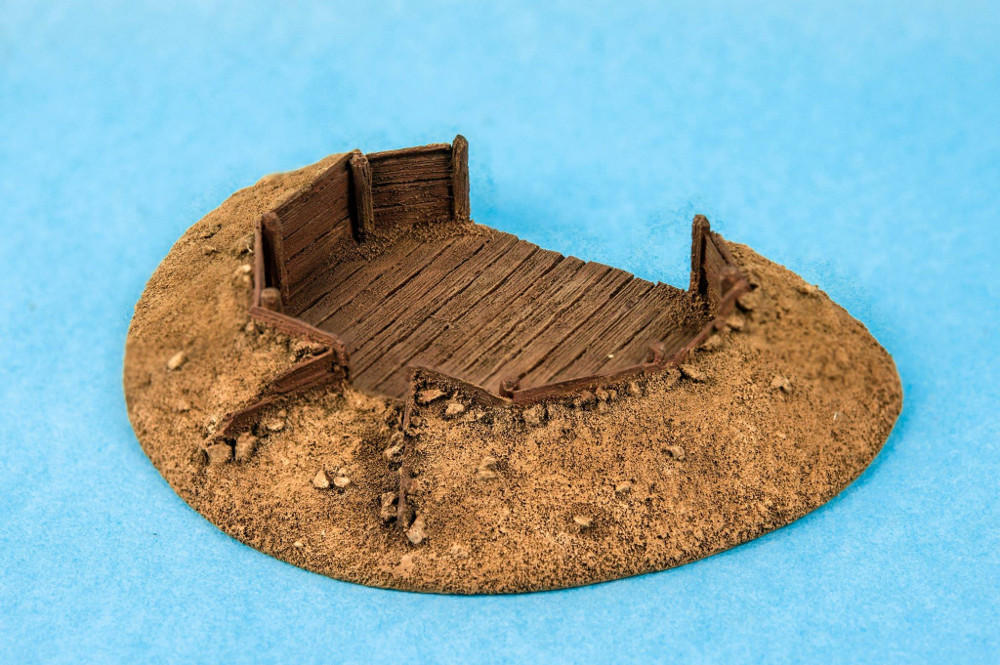 Gun emplacement 28mm to 32mm terrain piece for miniature wargaming Firelock Games