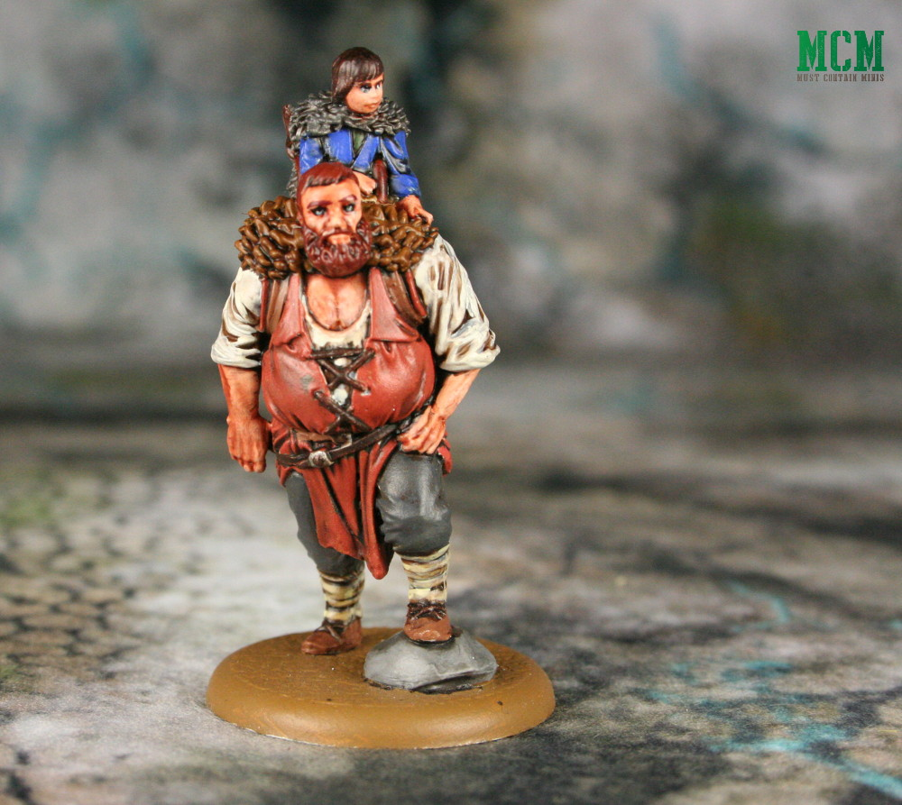 Hodor and Bran Miniature from A Song of Ice and Fire painted