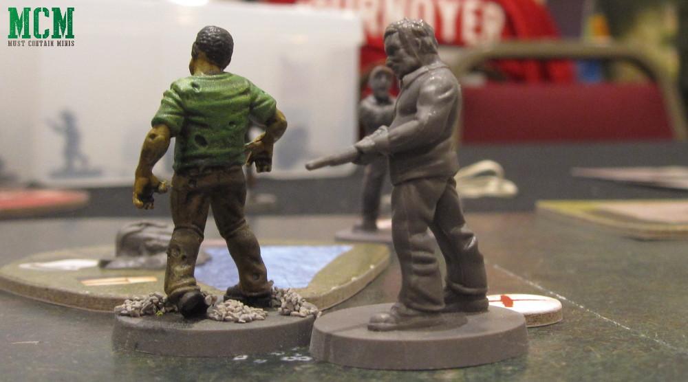Allen vs Zombie in the Walking Dead Miniatures Game 28mm