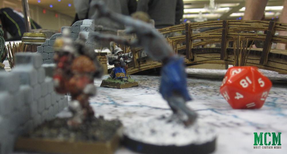 RAFM Fantasy Dwarf Miniature armed with a gun