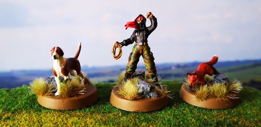 28mm miniatures by Tally Ho Games for Hunt Saboteur