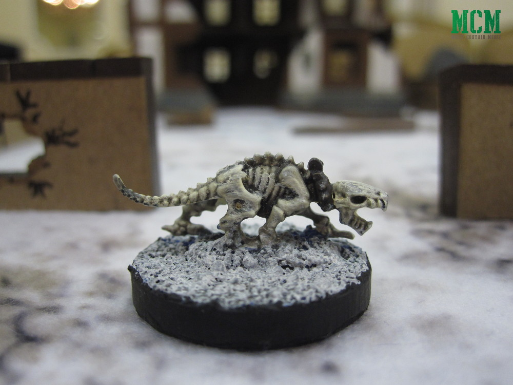 28mm Skeleton Dog miniature by Mantic Games