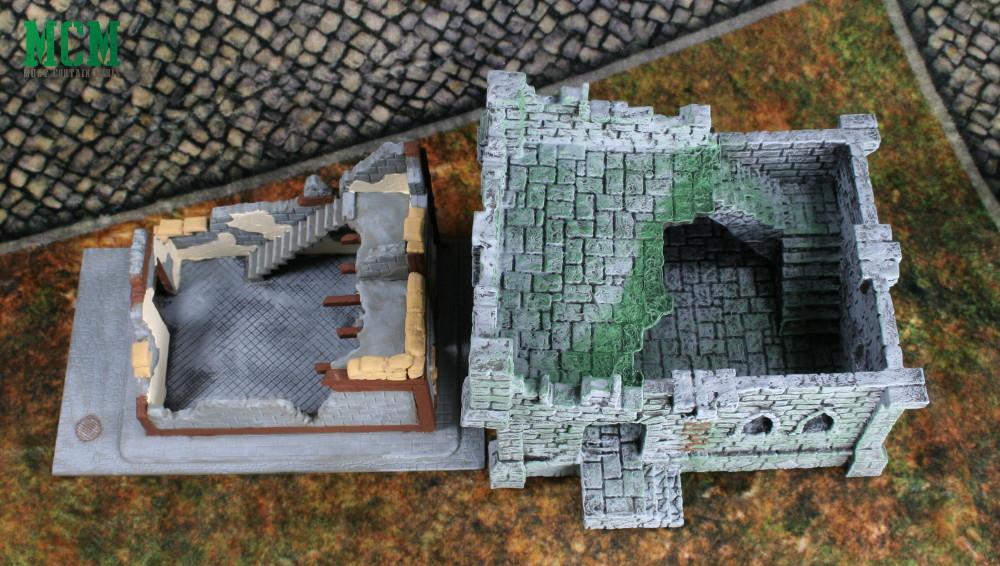 Terrain size comparison 28mm Bolt Action Ruins