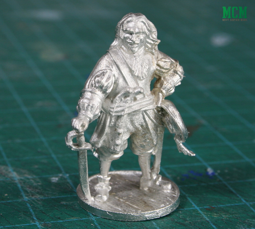 Unpainted 32mm Henry Morgan Pirate Miniature by Firelock Games for Blood & Plunder