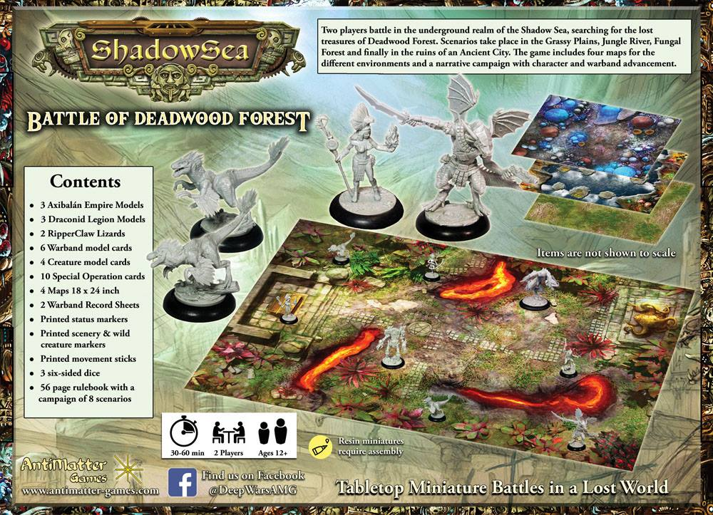 Contents of ShadowSeas 2 Player Starter Set