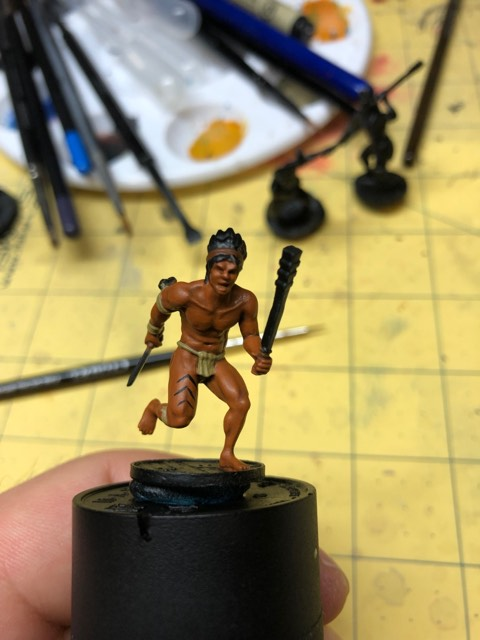Native American Warrior WIP for Blood & Plunder