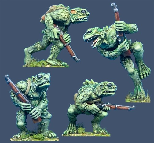 Deep Ones with Rifles - 28mm Miniatures