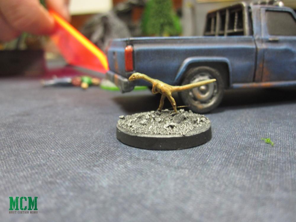 A Compsognathus Miniature Dinosaur 28mm