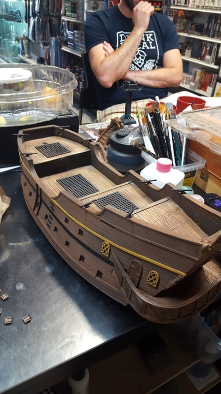 Galleon Work In Progress - Firelock Games - Painted by Forbes Hobbies Jeremy Cada