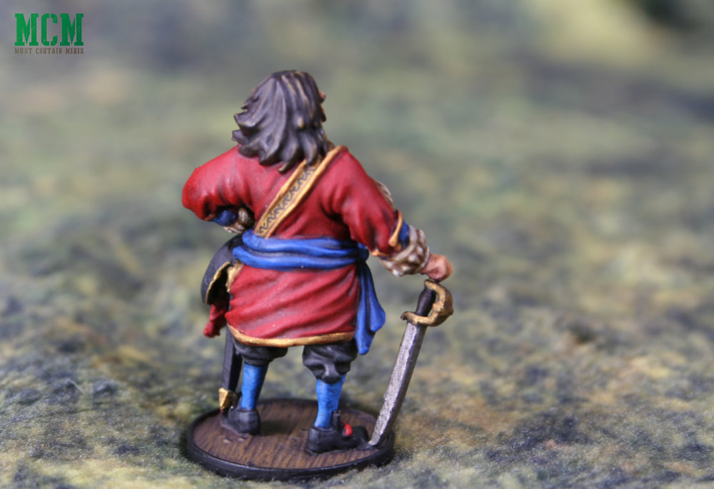 32mm Captain Morgan Miniature on a Cigar Box Battle Mat