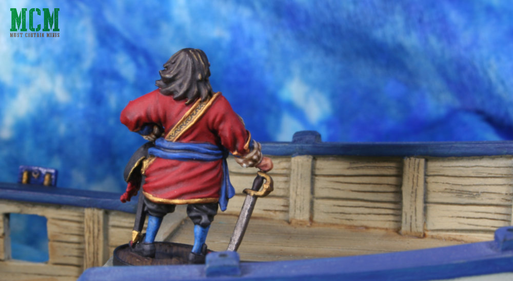Captain Morgan at Sea. 28mm / 32mm miniature for Blood and Plunder by Firelock Games