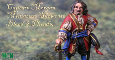 Captain Morgan Painted Miniature Showcase for Blood and Plunder
