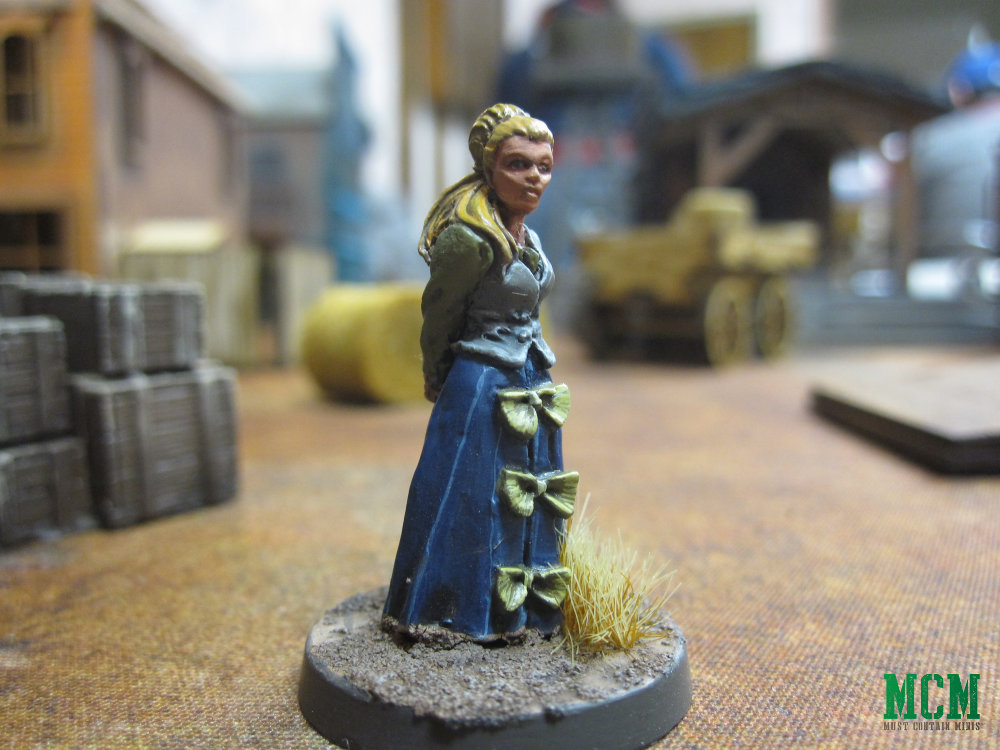 Female Wild West 28mm Civilian Miniature for Dracula's America