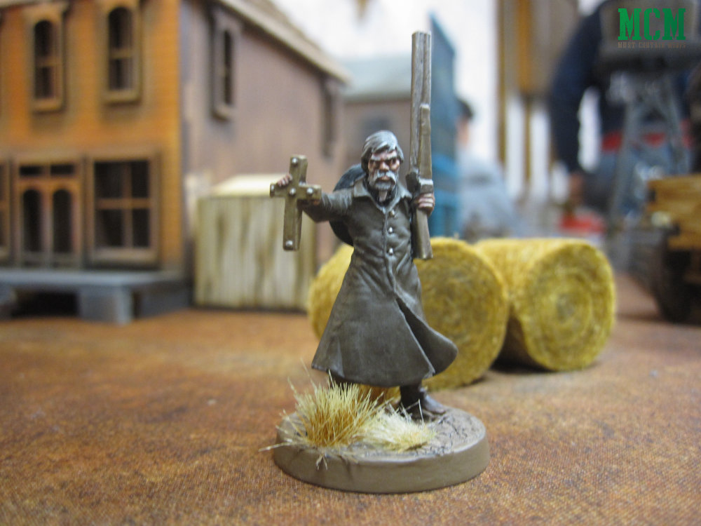 28mm Priest with a shotgun painted