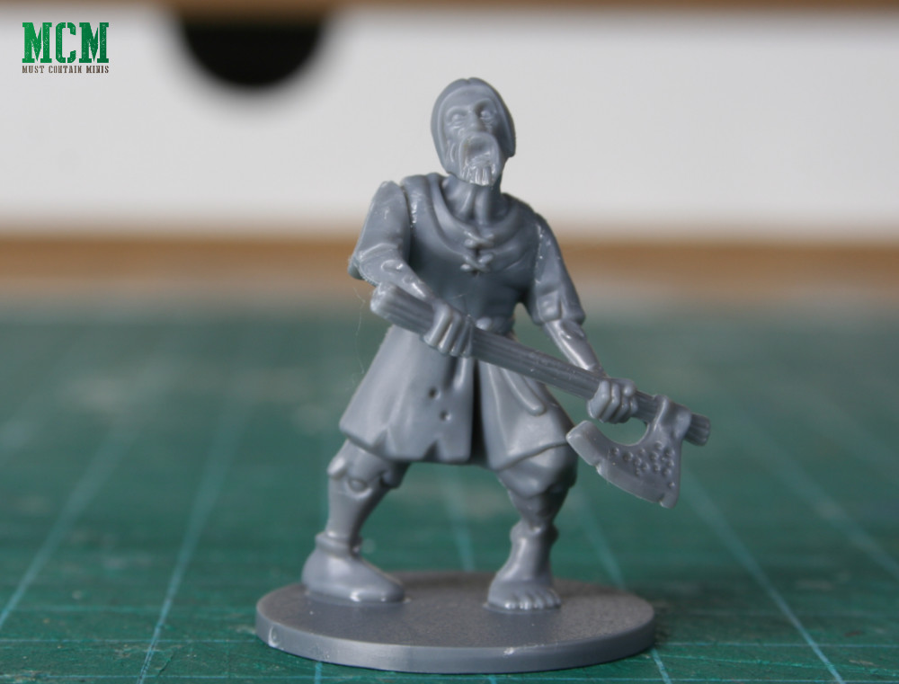 Living Dead Peasant Zombie armed with a two-handed axe