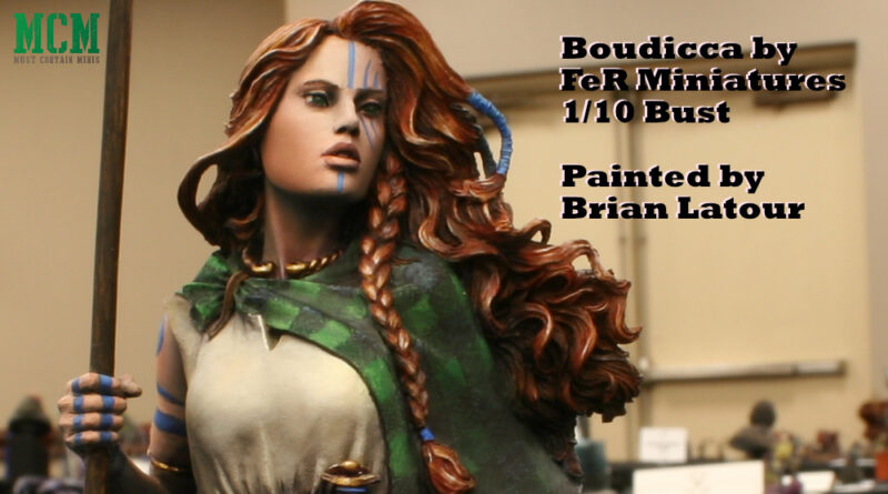 Boudicca by FeR Miniatures painted by Brian Latour