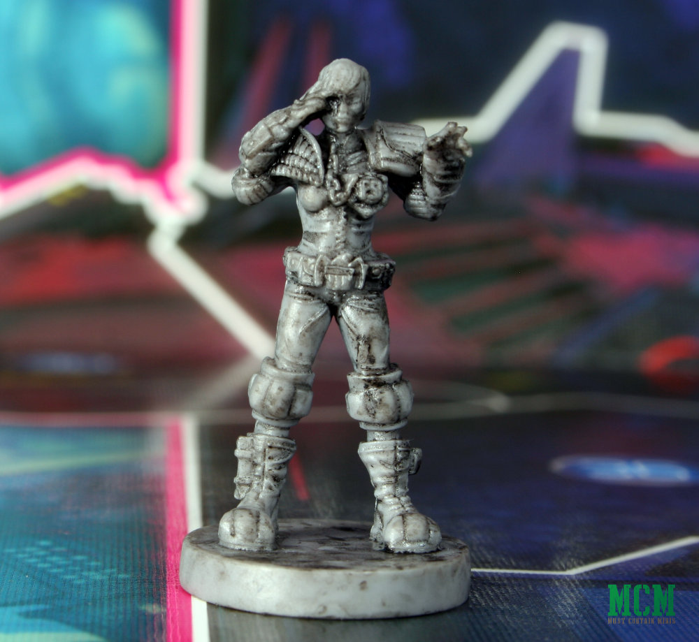 Board Game Miniature of Judge Anderson from Judge Dredd Helter Skelter Review