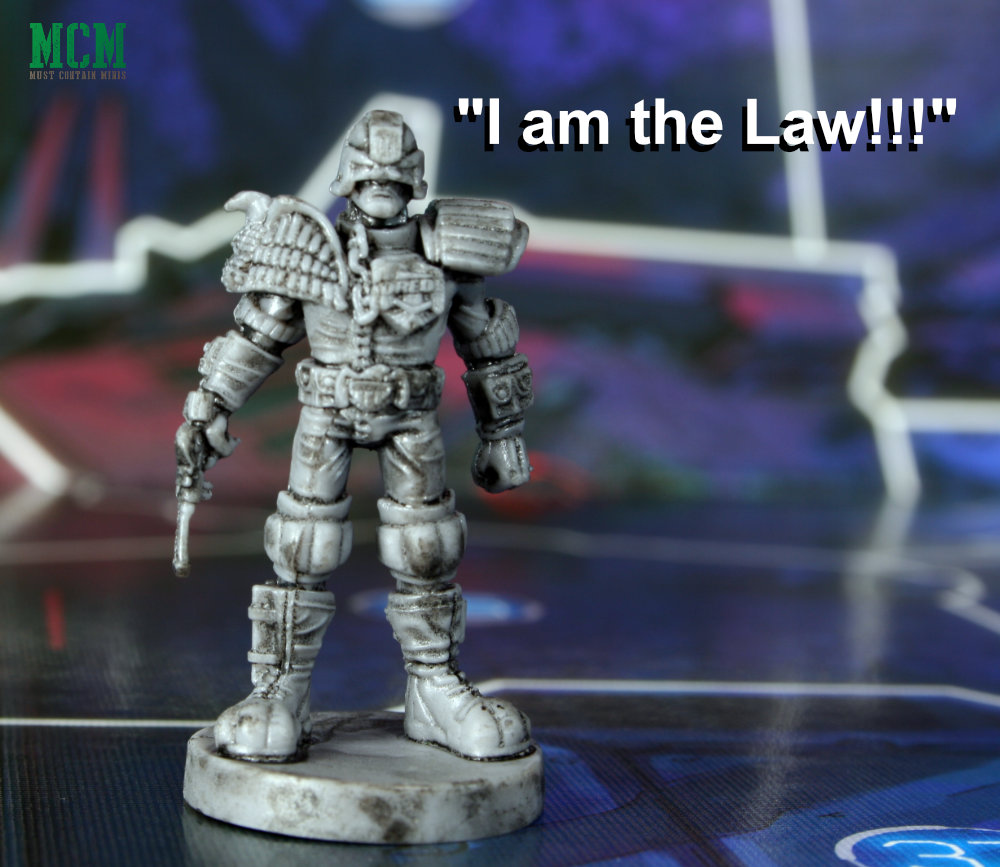 """""""I am the Law!"""" Judge Dredd Miniature from Helter Skelter by Osprey Games"""