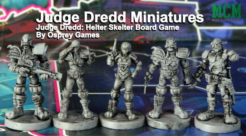 Board Game Miniatures Review - Judge Dredd: Helter Skelter by Osprey Games