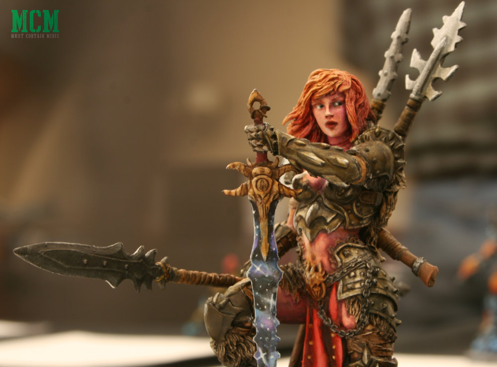 The Dragon Huntress 75mm miniature by Black Sun Miniatures