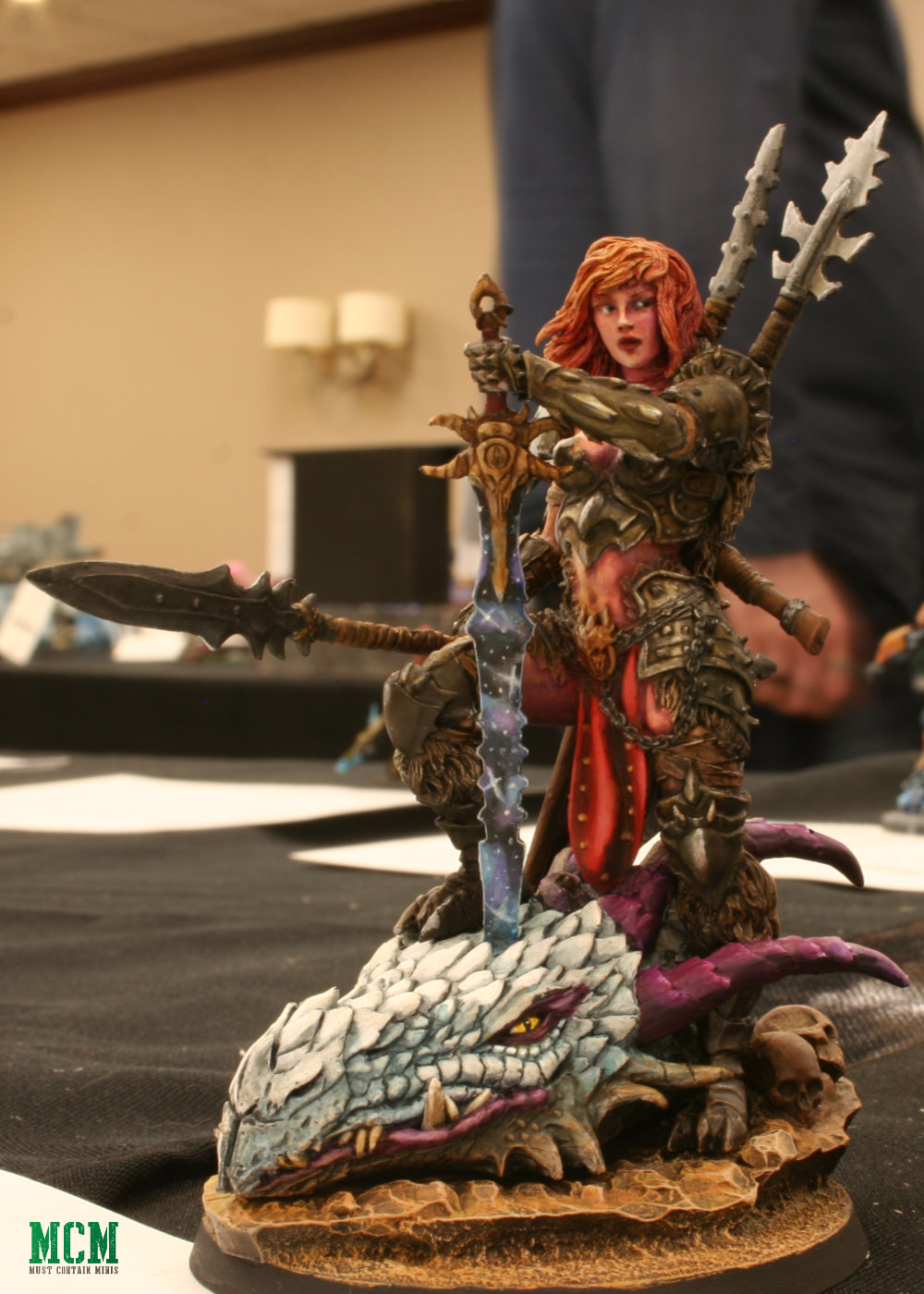 Dragon Huntress by Black Sun Miniatures as painted by Ramy Tawil