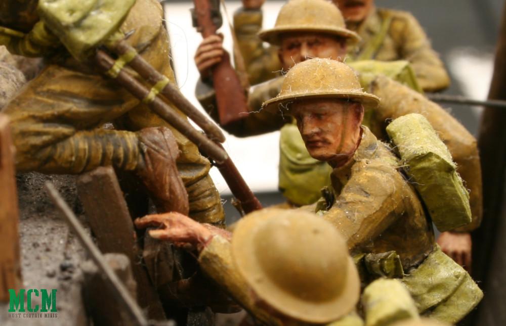 World War One Trench Soldier Diorama