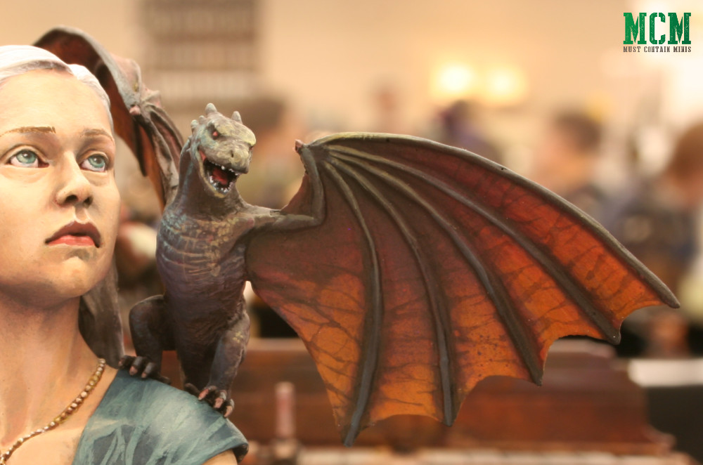 Game of Thrones Baby Dragon Miniature - bust