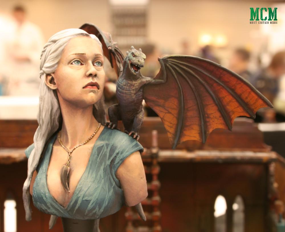 Daenerys Targaryen Miniature Bust by Nutsplanet painted