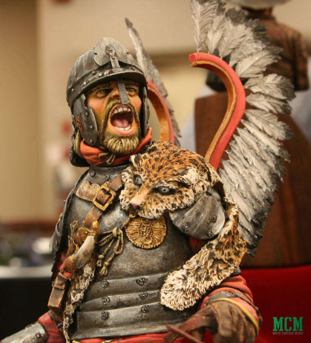 A Polish Winged Hussar at Sword and Brush 2019 painting competition