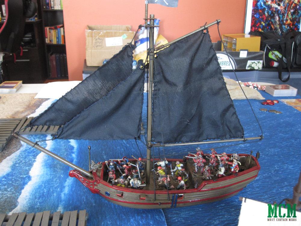 Blood and Plunder 28mm miniature sloop