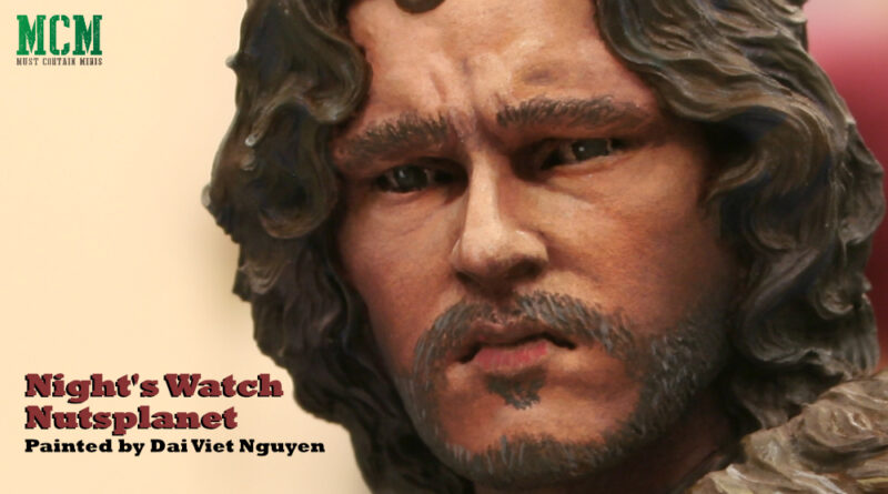 Game of Thrones Jon Snow Bust - well painted miniature bust - Night's Watch