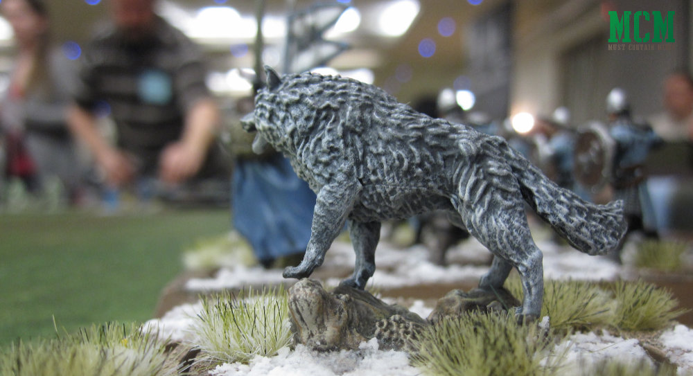 Stark Wolf Miniature - Song of Ice and Fire Miniatures