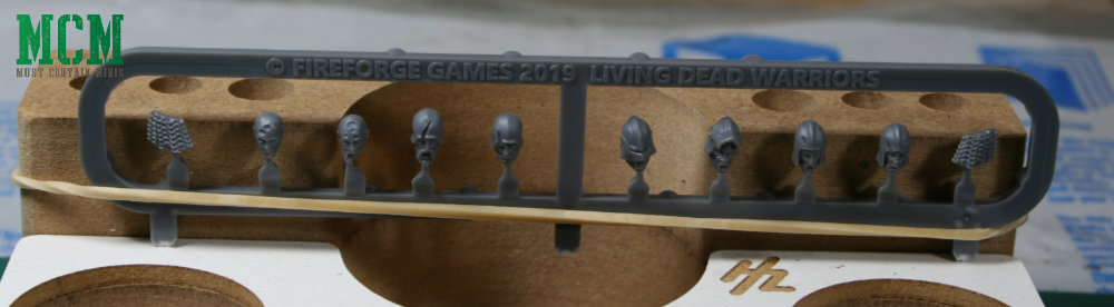 Living Dead Warriors Sprue heads - Fireforge Games