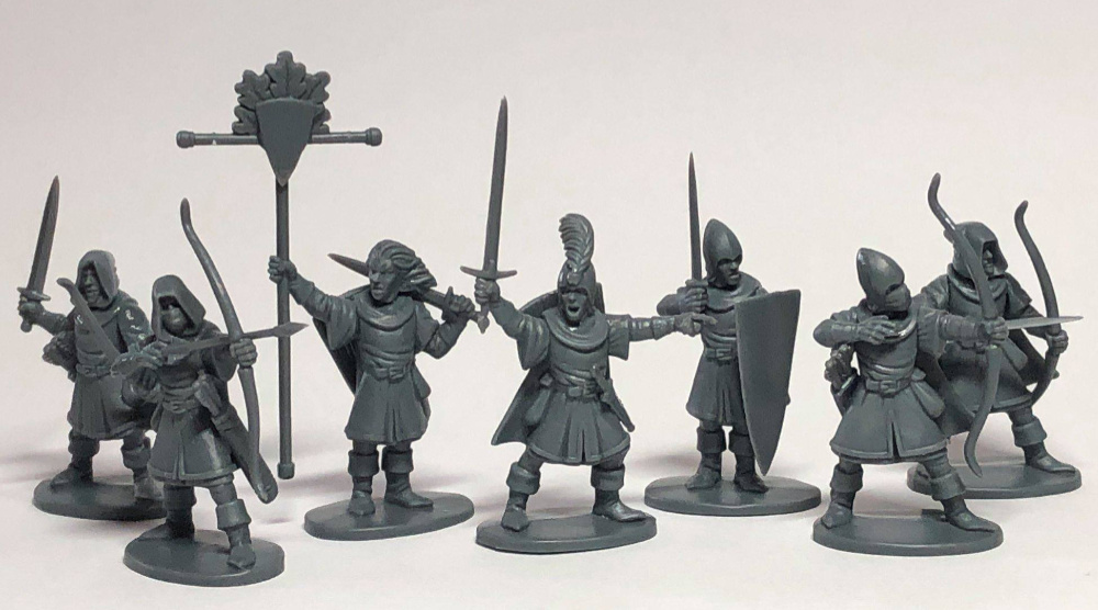Plastic unpainted Light Elves by Osprey Games and North Star Military Figures
