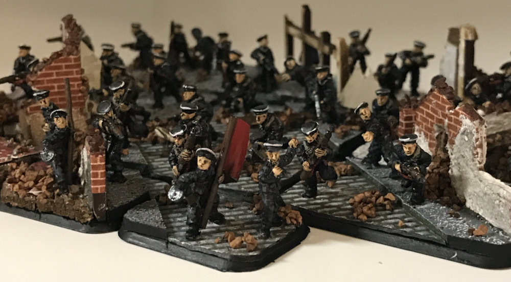 A Platoon of Russian Strelkovy soldiers for Flames of War.