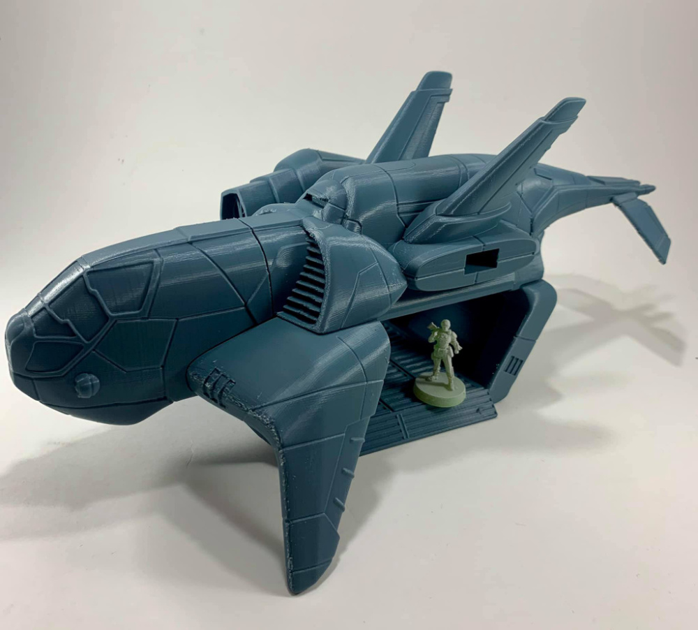 Arvalon 8 Kickstarter Preview - XCom Style landing ship for 38mm to 28mm miniature gaming.