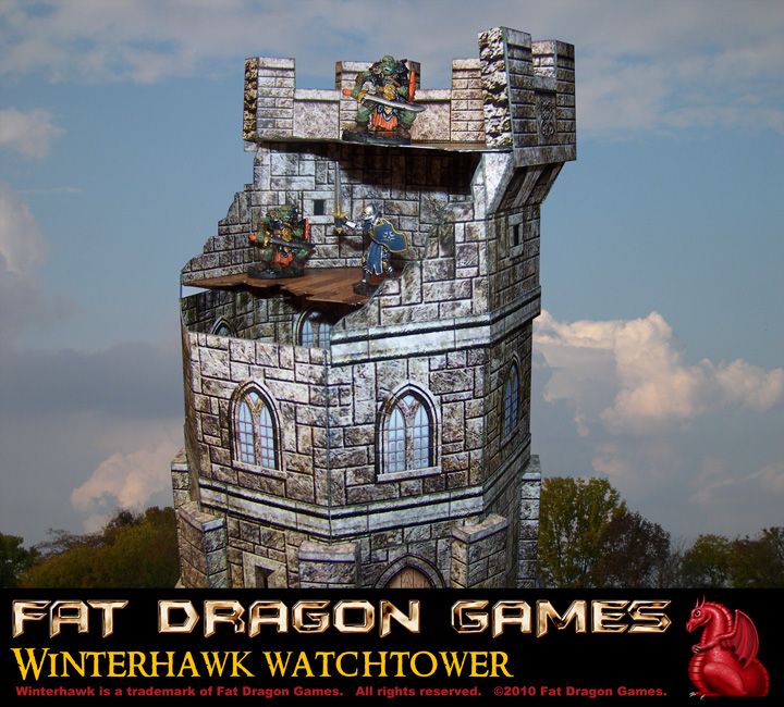 Paper Terrain for 28mm miniatures games - Ruined Wizards Tower