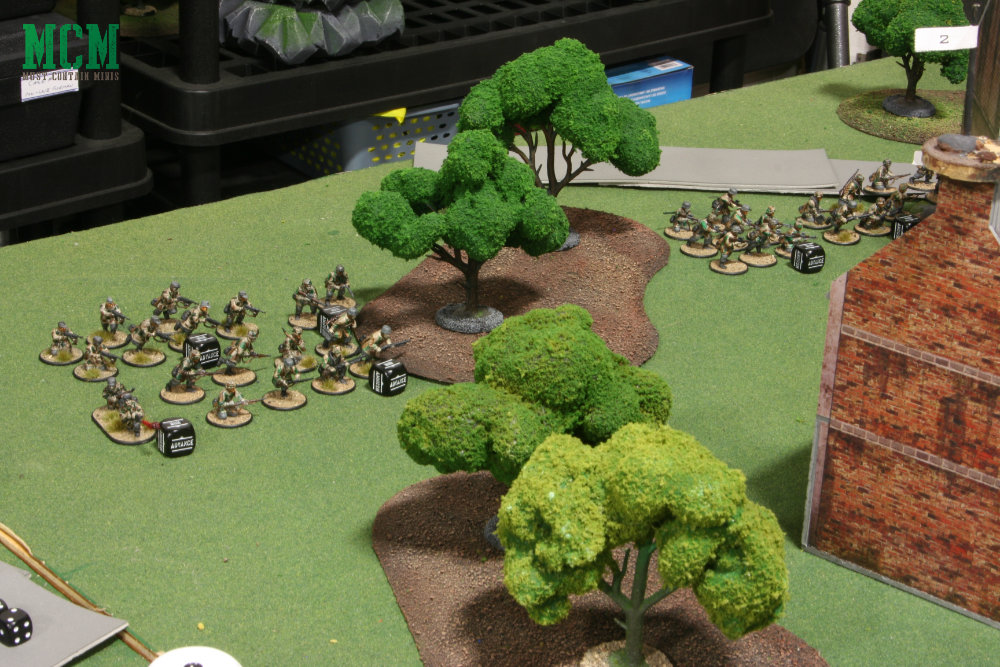 Advancing German Troops in a Game of Bolt Action