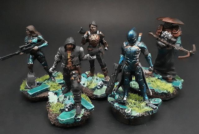 Arvalon 8 Bounty Hunter Miniatures