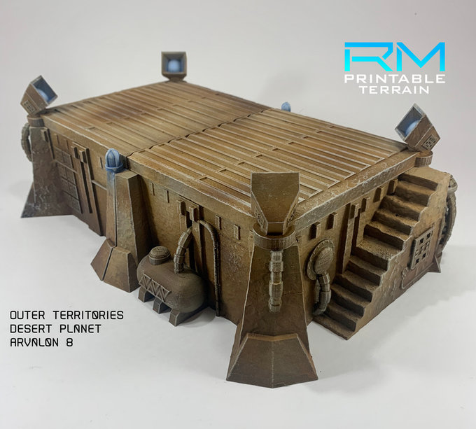 Arvalon 8 3D Printer Kickstarter Terrain for Desert Wargaming