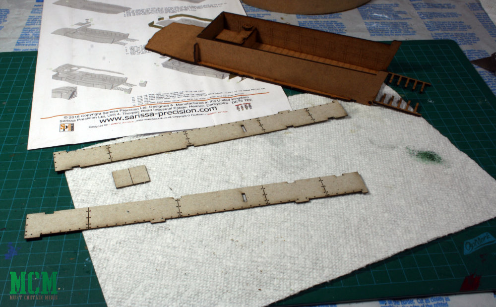 The Higgins boat in construction - 28mm wargames WW2