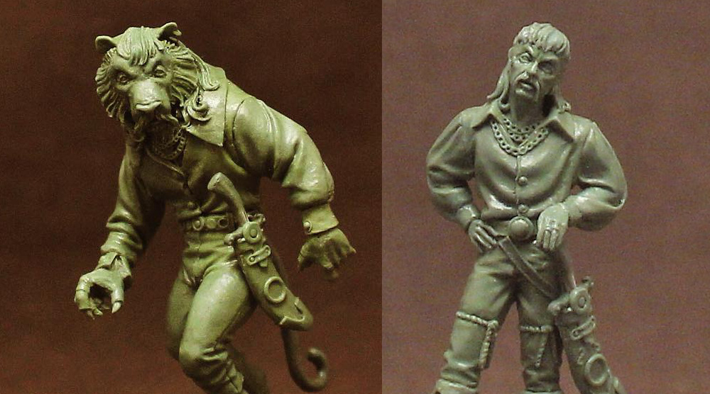 Tiger King Miniature for RPG Games like Dungeons and Dragons. That mini certainly has some similarities to Tiger Joe.