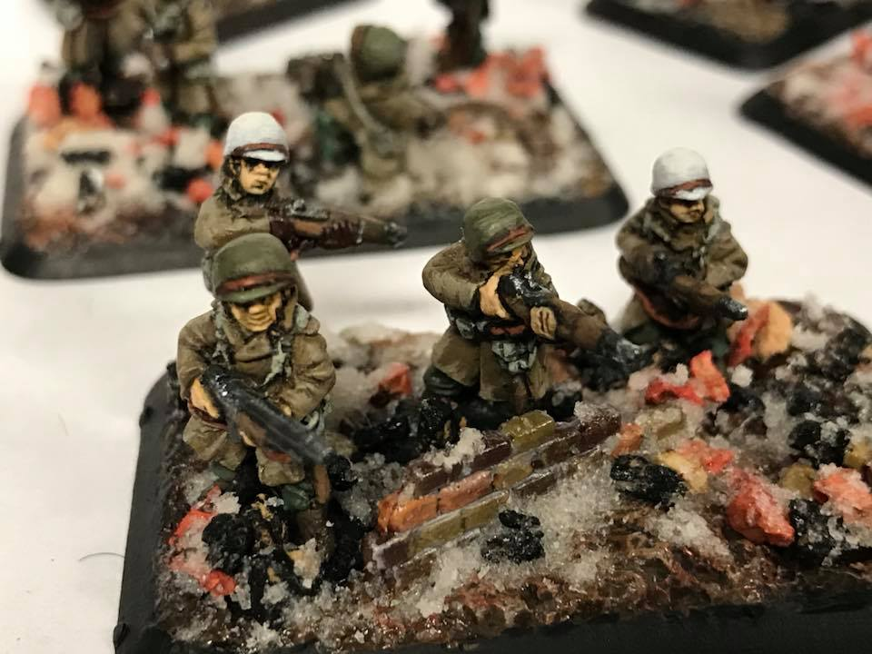 American Winter Infantry up close and personal in 15mm. Flames of War Miniatures