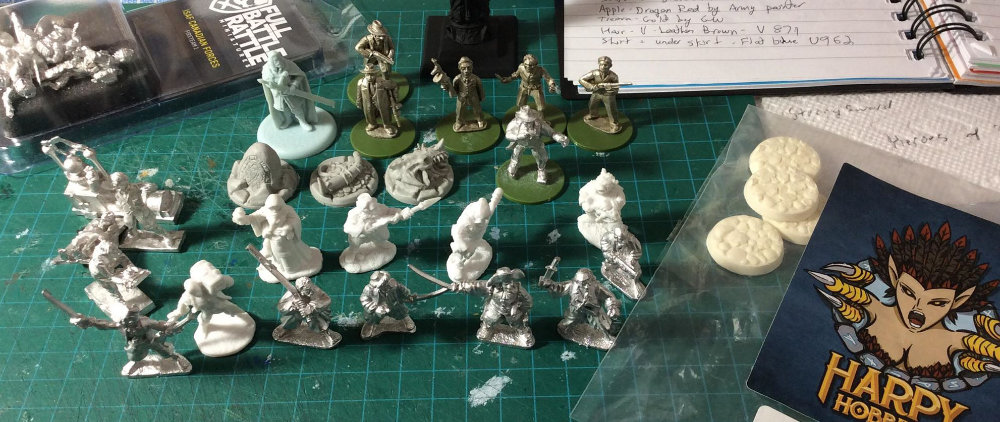 A set of minis that I sent to commission painter Dave Lamers