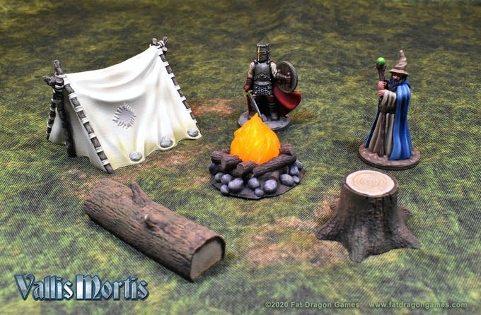 Camping in the wilderness - 3D printed terrain