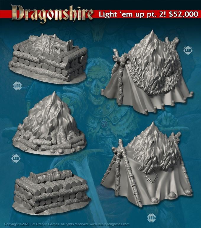 LED 3D Printer Terrain for the Vallis Mortis Kickstarter by Fat Dragon Games.
